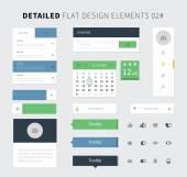 Set of Flat design ui kit for webdesign