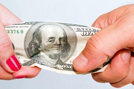 Fight over money C
