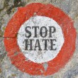 Text message as appeal to combat hatred and intole...