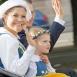Постер, плакат: The swedish crown princess Victoria prince Daniel and princess