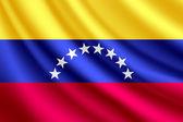Waving flag of Venezuela vector