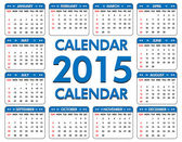 Calendar for the year of 2015.