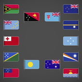 World flags collection Oceania