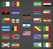 World flags collection, Africa, part 1