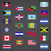 World flags collection, North and Central America.