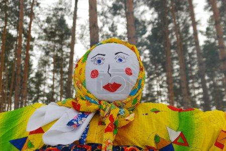 Photo pour Shrovetide, événement traditionnel symbolisant le début du printemps - image libre de droit