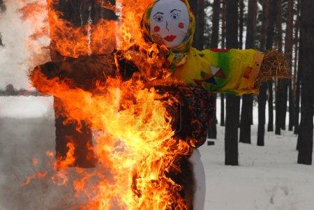 Burning winter doll. Shrovetide.