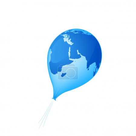 Illustration for A deflating balloon (Planet Earth) - Royalty Free Image