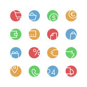 Shop colored icon set