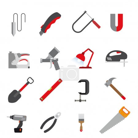 Line icons of tools