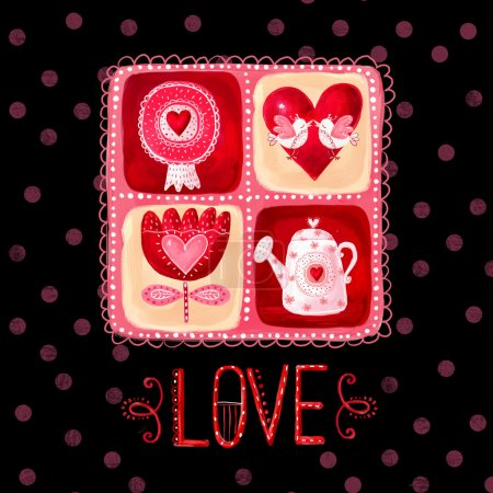 Love greeting card. Design element.Love poster
