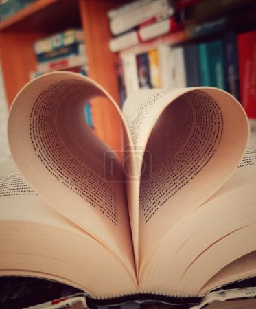 The pages of the book are folded in the shape of a...