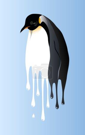 Global warming penguin