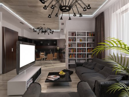 Design living room with warm colors