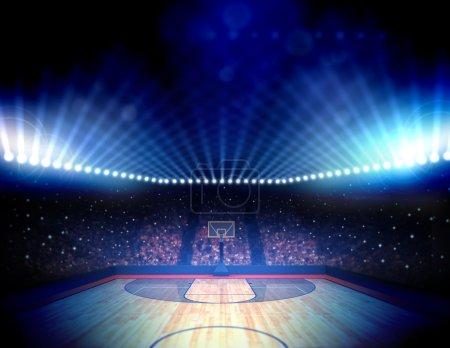 Photo pour Arène de basket-ball bondé - image libre de droit