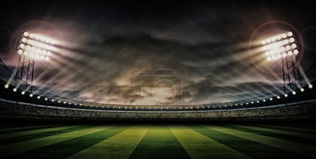 Photo for Night football stadium under the lights - Royalty Free Image