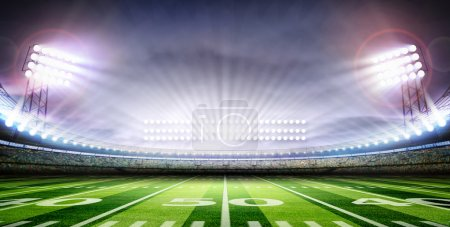 Photo for American football stadium under the lights at night - Royalty Free Image