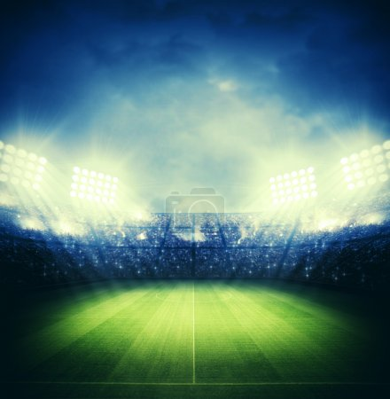 Photo for Night under the lights of the stadium image - Royalty Free Image