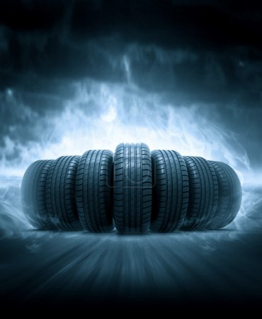 Photo for 3d vehicle tires concept images - Royalty Free Image