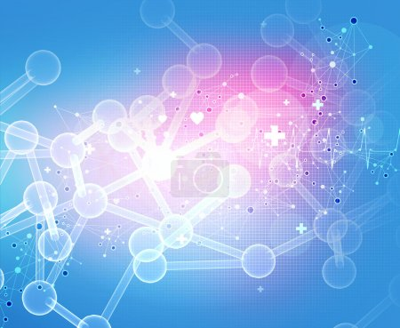 Abstract 3d molecules medical background