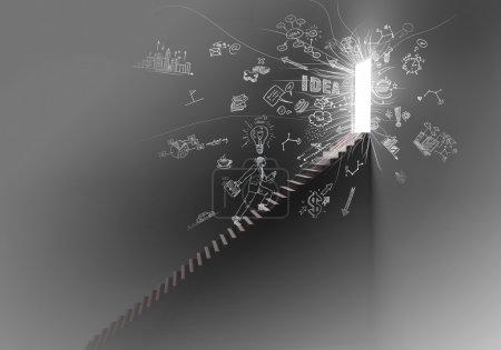 Photo pour Escalier vers la lumière - image libre de droit
