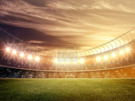 Photo pour Stade de football - image libre de droit