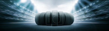 Photo for 3d vehicle tire - Royalty Free Image