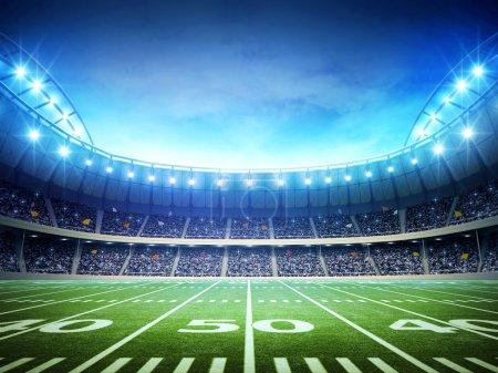Photo pour Stade de football américain - image libre de droit