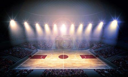 Photo pour Un stade imaginaire est modélisé et restitué. - image libre de droit