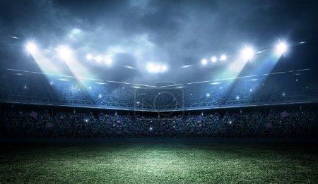 Photo pour Un stade imaginaire est modélisé et rendu . - image libre de droit