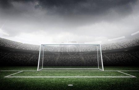 Goal post in the stadium