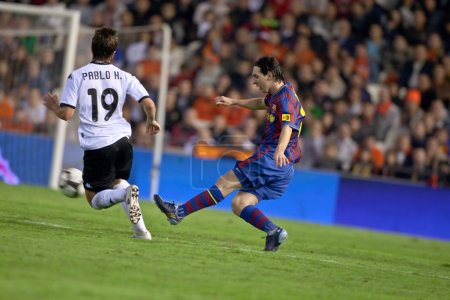 Lionel Andres Messi in action