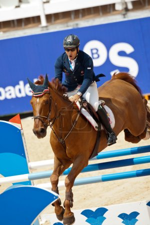 Rider on the horse during  Global Champions Tour of Spain