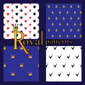 Set of 4 simple royal patterns