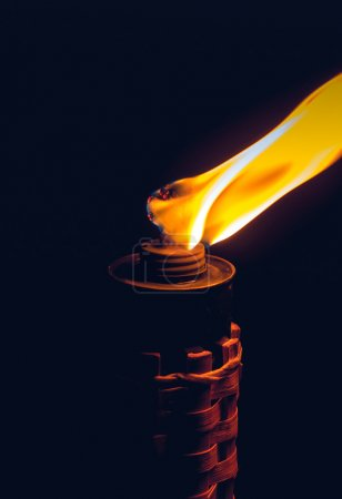 Burning kerosene torch