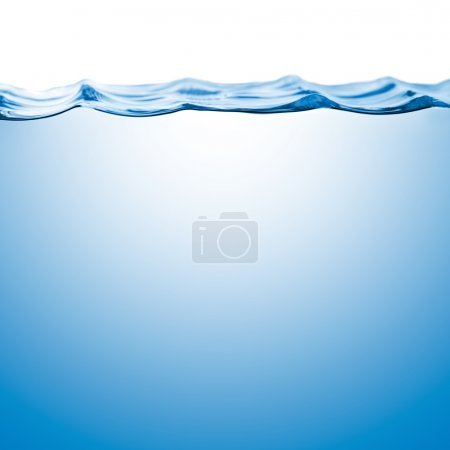 Water surface level isolated on white