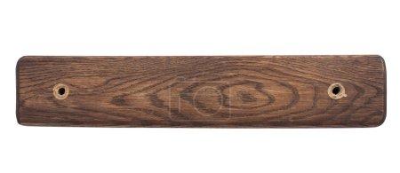 Photo pour Panneau en bois vide sur fond blanc - image libre de droit