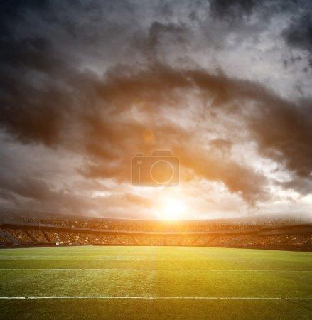 Empty football field