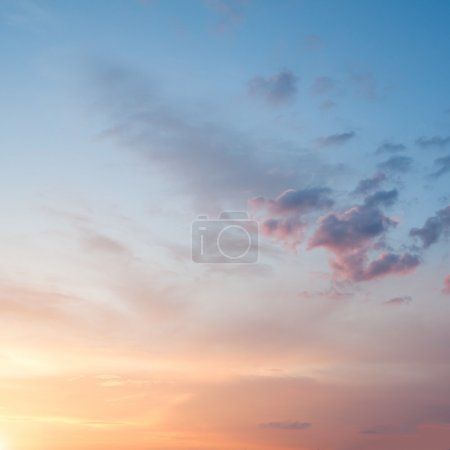 Photo for Fiery orange sunset sky - Royalty Free Image