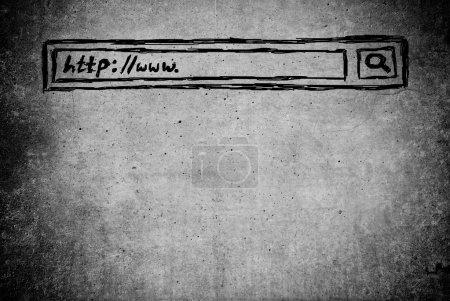 Hand writen Search bar in browser