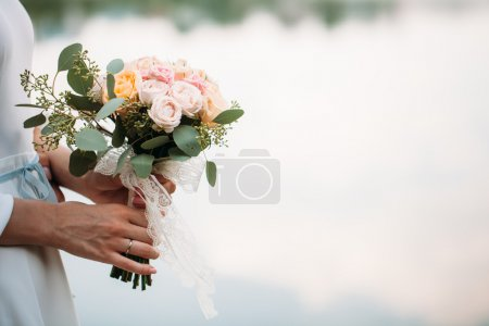 Photo for Wedding bouquet of flowers in hands - Royalty Free Image