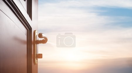 Photo for Room with open door - Royalty Free Image