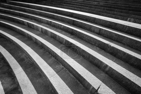 Architectural design of stairs made of concrete