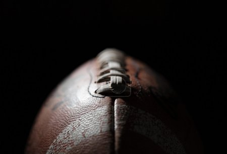 Photo for American Football in dark space - Royalty Free Image
