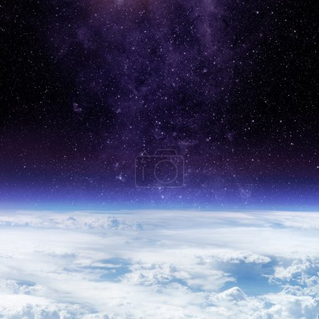 Clouds of Earth planet and star