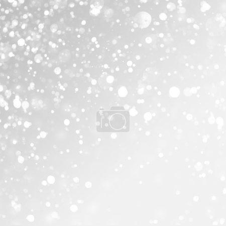 Photo pour Fond de Noël. Neige sur fond gris . - image libre de droit