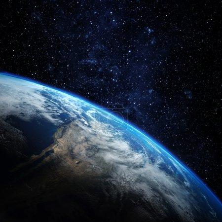 Photo pour Planète Terre depuis l'espace. certains éléments de cette image fournie par la nasa - image libre de droit