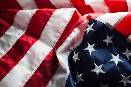 Flag of The USA on clean background with space for text