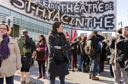Quebec Saint-Hyacinte college students protest in Montreal