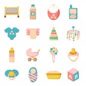 Cartoon baby care icons